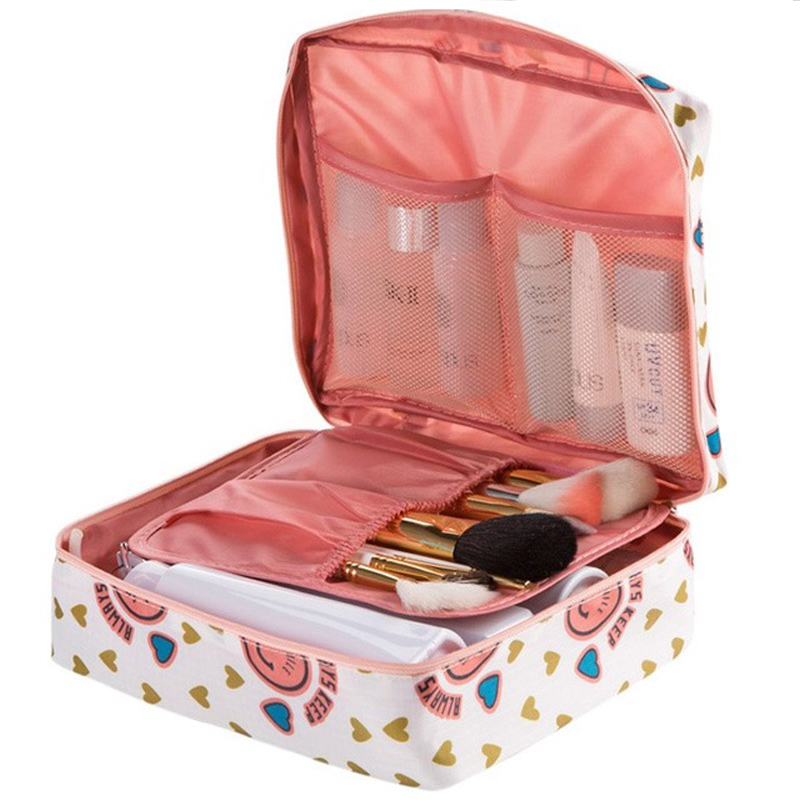 2019 Zipper Men's And Women's Makeup Nylon Cosmetic Bag Transparent Cosmetic Container Cosmetic Travel Bag