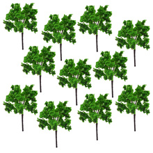 цена на 7cm height model green wire trees toys scale santable miniture color plants for diorama tiny forest garden scenery making