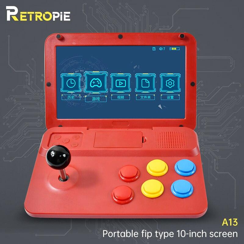 Retropie POWKIDDY A13 10 Inch Joystick Arcade A7 Architecture Quad-Core CPU Video Game Console New Games Children's Gift