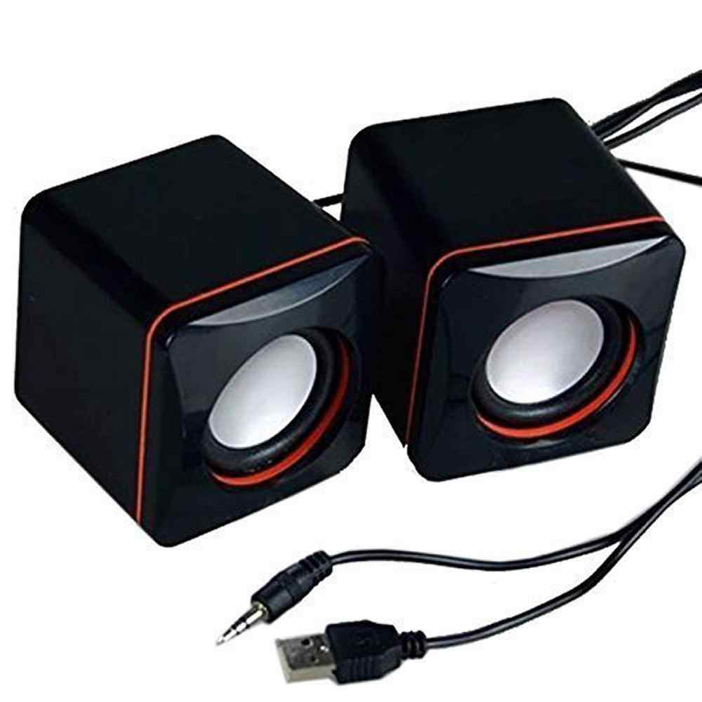 Draagbare Computer Speakers USB Powered Desktop Mini Speaker Bas Geluid Muziekspeler System Wired Kleine Luidspreker