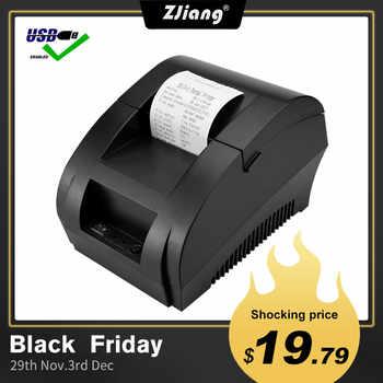 Zjiang POS Thermal Printer Mini 58mm USB POS Receipt Printer For Resaurant Supermarket Store Bill Check Machine EU US Plug - Category 🛒 Computer & Office