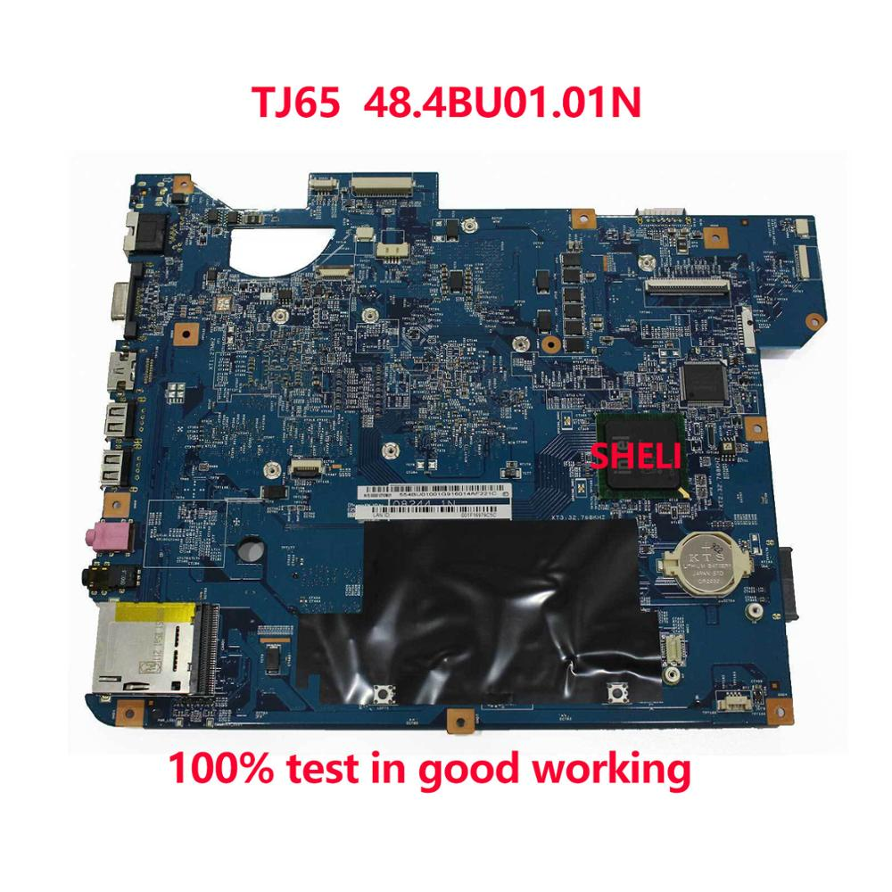 SHELI For ACER TJ65 NV54 NV58 Laptop Motherboard SJV50-MV MB 08244-1N 48.4BU01.01M 48.4BU01.01N Notebook Pc Mainboard Main Board
