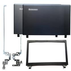 Nowy Laptop LCD tylna pokrywa/przednia ramka/zawiasy LCD dla Lenovo ideapad 100-15 100-15IBY B50-10 Laptop naprawa części czarny/szary przypadku