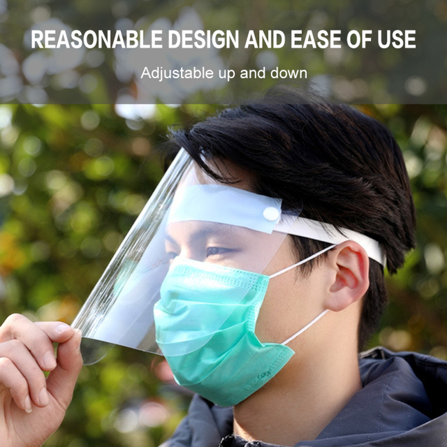 In stock Adult Transparent Mask Film Anti-fog Mask Sheet Environmental Protection Isolation Mask Protective Face Screen