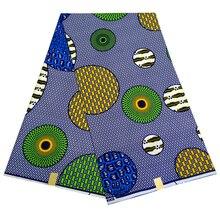 Высокое качество 6 ярдов африканская ткань для вечерние платья Анкара африканская полиэфирная восковая печать на ткани