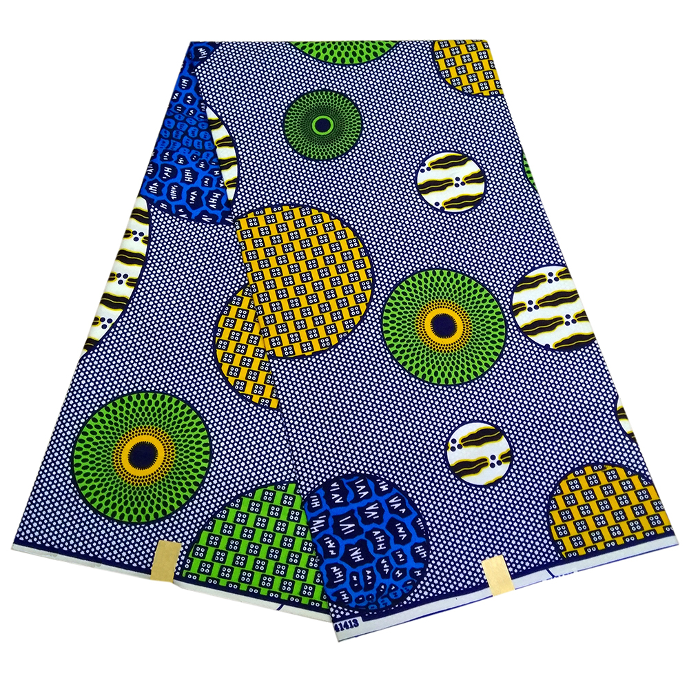High Quality 6yards African Fabric For Party Dress 2019 Ankara African Polyester Wax Prints Fabric Wax
