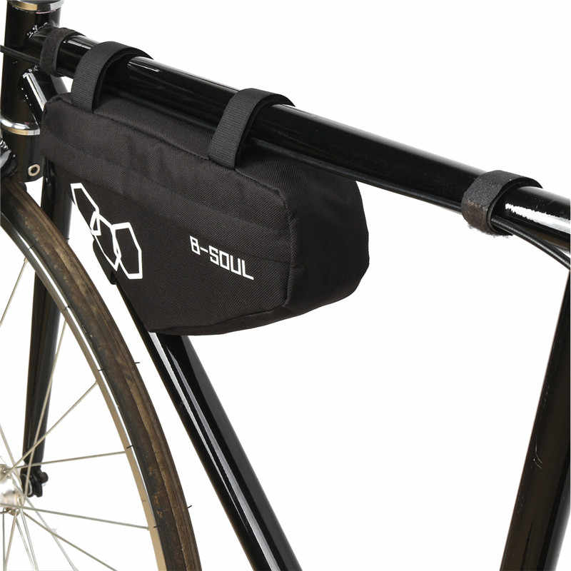 B-Soul Bike Bicycle Cycling Bag Pouch Front Tube Frame Phone Triangle Saddle Bag