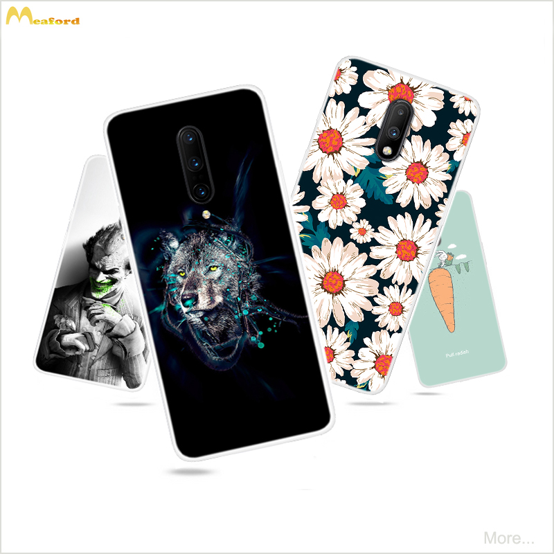 For Oneplus 7 pro Cases Cartoon Silicone Phone Cover For Oneplus 6t Cases Etui OnePlus 6 T One Plus 7 7pro Case Back Protective