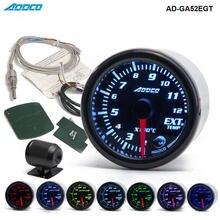 """Car Auto 12V 52 millimetri/2 """"7 Colori Universale dei Gas di Scarico Temp Gauge Ext Temp Meter EGT con Sensore e Supporto AD GA52EGT"""