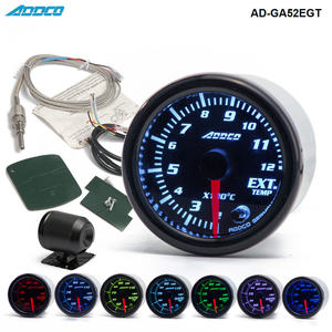 "Image 1 - Car Auto 12V 52mm/2"" 7 Colors Universal Exhaust Gas Temp Gauge Ext Temp Meter EGT With Sensor and Holder AD GA52EGT"