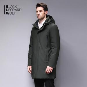 Image 3 - Blackleopardwolf 2019 Winter Men Coat Detachable Hood Warm Jacket Cotton Padded Winter down jacket Men Clothes BL 852