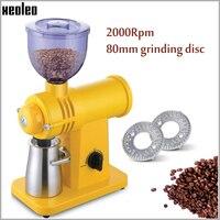 Xeoleo 250g filtro moedor de café 200 w moedor de café elétrico aço inoxidável dentes fantasma amarelo/branco/preto moedor de café|Moedores de café elétricos| |  -