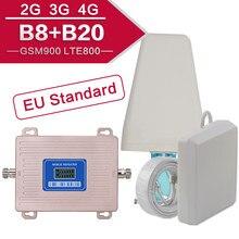 4g internet amplificador 2g 3g 4g gsm repetidor de sinal 4g amplificador de sinal kit para o telefone celular gsm 900 lte 800 b20 banda dupla espanha