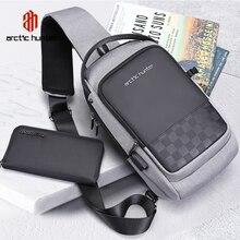 ARCTIC HUNTER 2020 USBกันน้ำผู้ชายกระเป๋าชายMessengerกระเป๋าสำหรับวัยรุ่นกระเป๋าเดินทางCrossbody Bolsas
