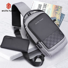 ARCTIC HUNTER 2020 USB Waterproof Men Chest Bag Male Leisure Messenger Shoulder Bag For Teenagers Travel Crossbody Bolsas