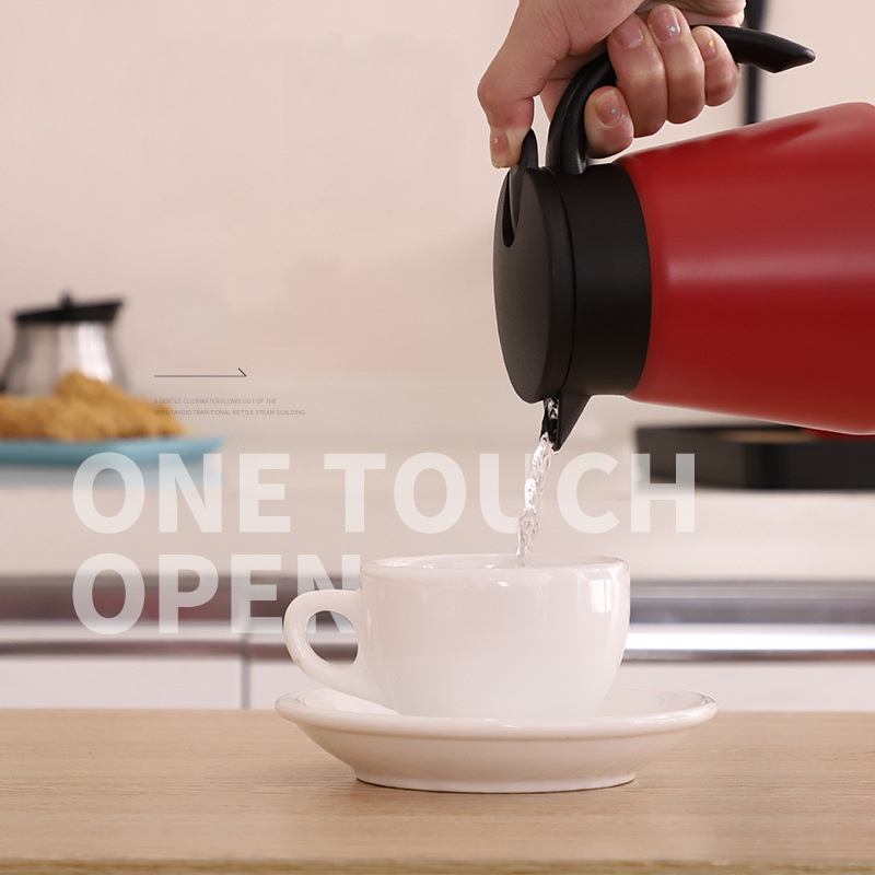600ml Stainless Steel Thermos Coffee Pot Portable Mini Vacuum Flasks Double Wall Insulated Coffee Tea Pot Thermos Kettle in Coffee Pots from Home Garden