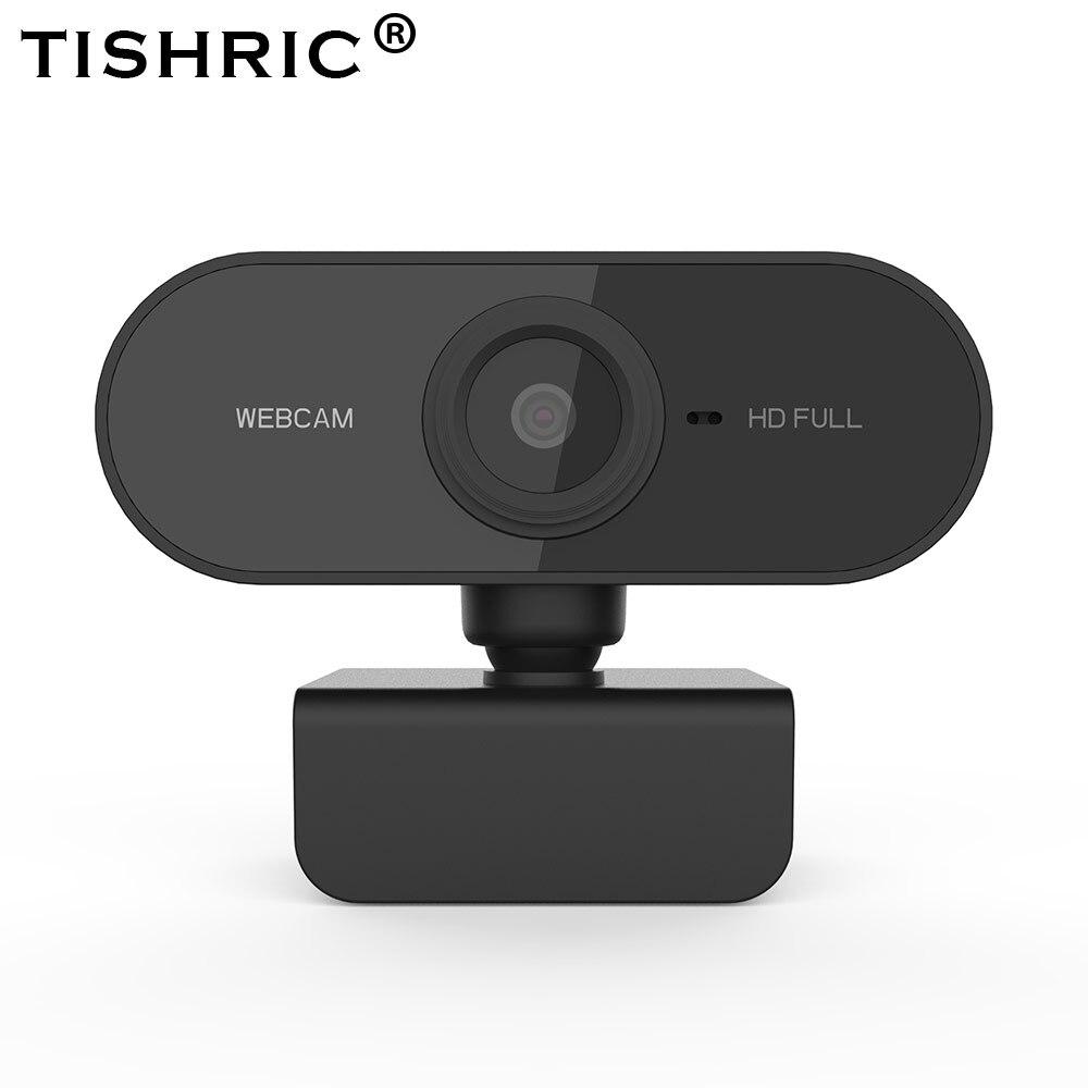 TISHRIC Autofocus Full HD Webcam 1080p Web Camera HD Computer Camera Plug and Play Webcam PC with Microphone 1