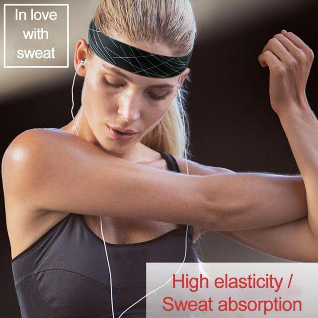 Women/Men Cotton Sweat Sweatband Yoga Gym Stretch Headband Anti-Slip Breathable Fitness Hair Band Sport Sweat Guiding Belt 1