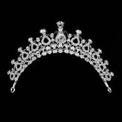 Deluxe Украшенные стразами Алмазная тиара корона волос палочки Для женщин головной убор выпускного бала элегантные модные резинки для волос