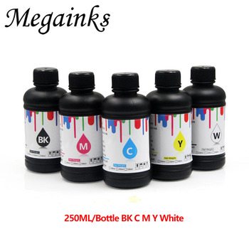 5 Bottle 250ML LED UV Ink for DX4 DX5 DX6 DX7 Printhead Roland Mimaki Mutoh A2 A3 A4 & Large Flatbed Inkjet Printer Soft - discount item  32% OFF Office Electronics