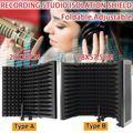 Faltbare Mikrofon Akustische Isolation Schild Legierung Akustische Schäume Panel Einstellbar Studio Aufnahme Mikrofon Zubehör