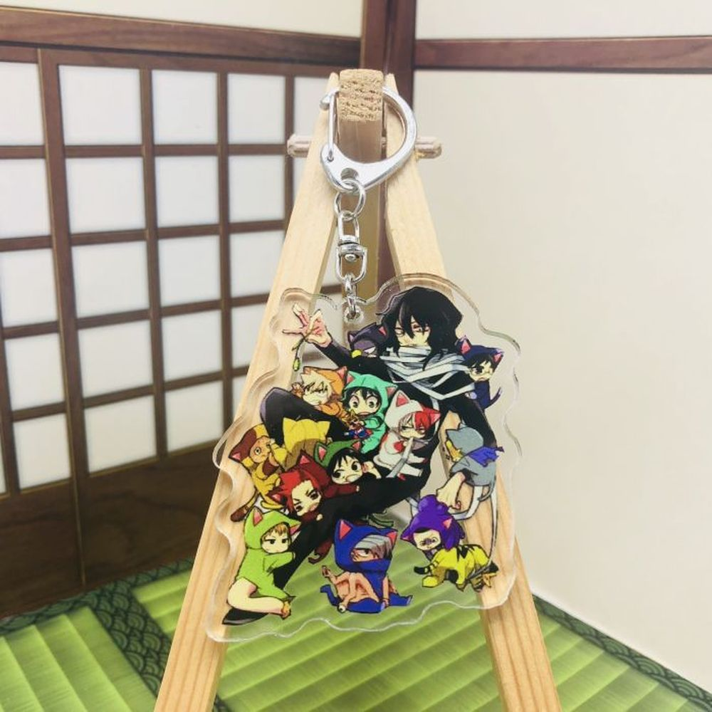 Брелок для ключей с японским аниме «Моя геройская Академия», мультяшный фигурка боку, без героев, Академия, акриловый подвесной брелок, аксе...