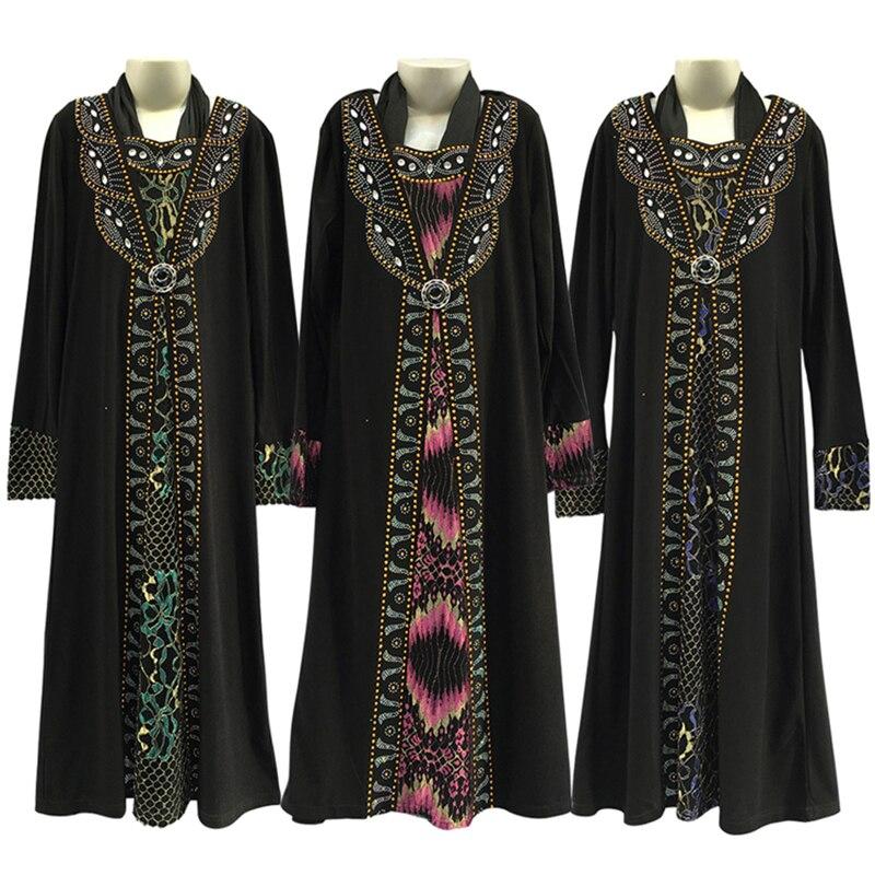 Eid Mubarak Black Kids Girls Abaya Turkey Hijab Muslim Dress Kaftan Dubai Caftan Abayas Ramadan Elbise Islamic Clothing
