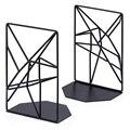 Концы для книг черные  декоративные металлические концы для книг подставки для полок  уникальный геометрический дизайн для полок  кухонные ...
