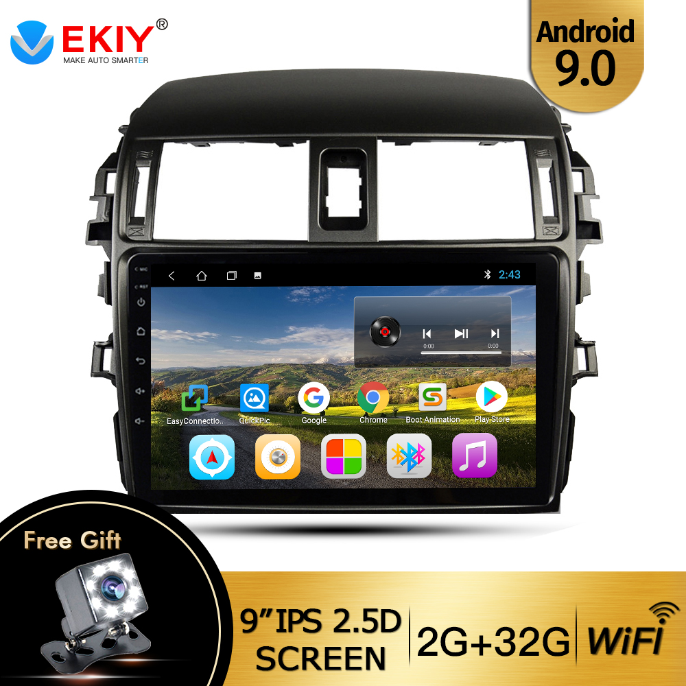 EKIY 9'' IPS For <font><b>Toyota</b></font> <font><b>Corolla</b></font> 10 <font><b>E150</b></font> 2006-2013 Car Radio Multimedia Video Player Navigation GPS Android 9.0 2 Din DVD Player image