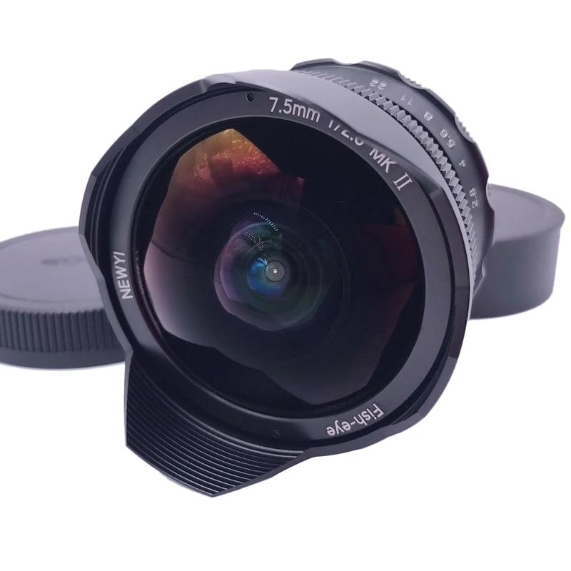 Newyi 7.5mm F2.8 II Fisheye Lens for Fuji Fujifilm FX Mount X-A1/2 X-T2 X-T10 X-E2 Camera