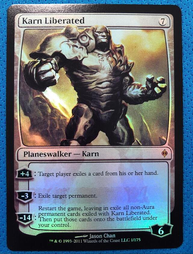 Karn Liberated	New Phyrexia Foil Magician ProxyKing 8.0 VIP The Proxy Cards To Gathering Every Single Mg Card.