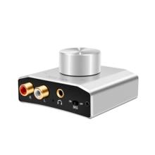 Reiyin dac光同軸usbデジタルアナログrca 3.5 ミリメートル低音オーディオコンバータ 192khz 24bitデコーダ