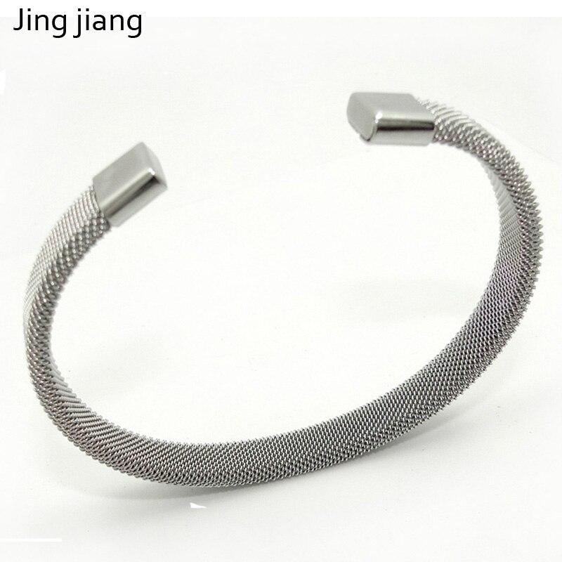 Jingjiang mens jewellery Mesh Bracelet 8mmAdjustable Silver Grey Bracelet Men's Open Bracelet Jewelry Accessories Gift Wholesale