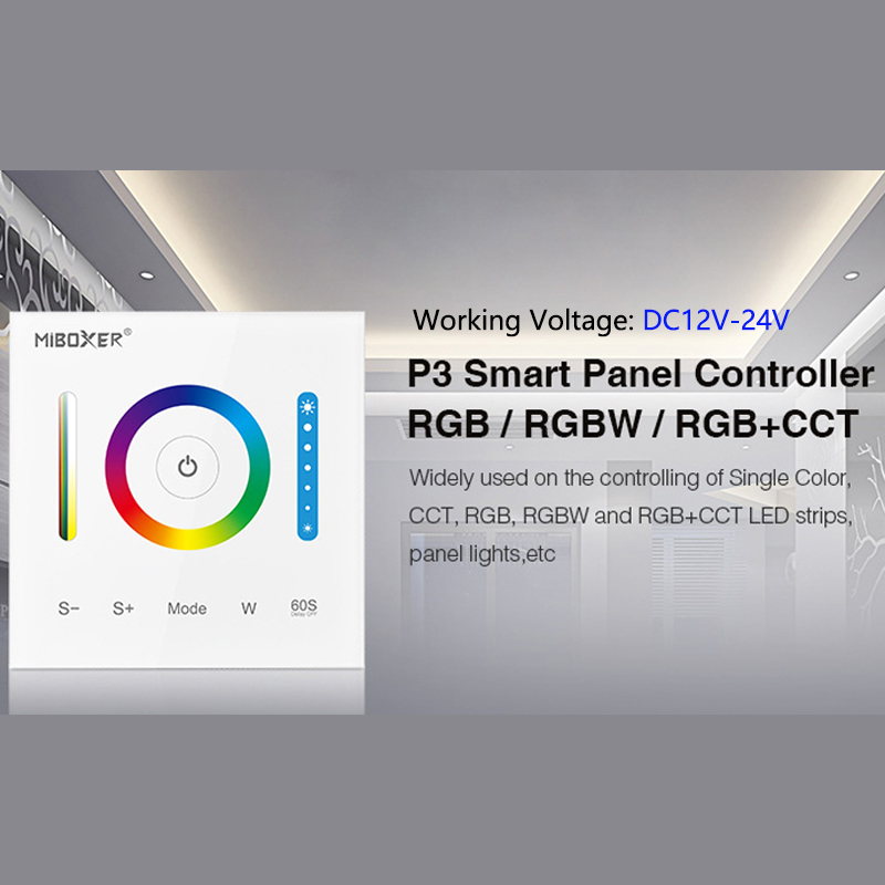 LED Smart Touch Panel Switch Controller DC12v~24v Wall Embedded Dimming Control Box For RGB/RGBW/RGB+CCT Panel Lights Led Strip