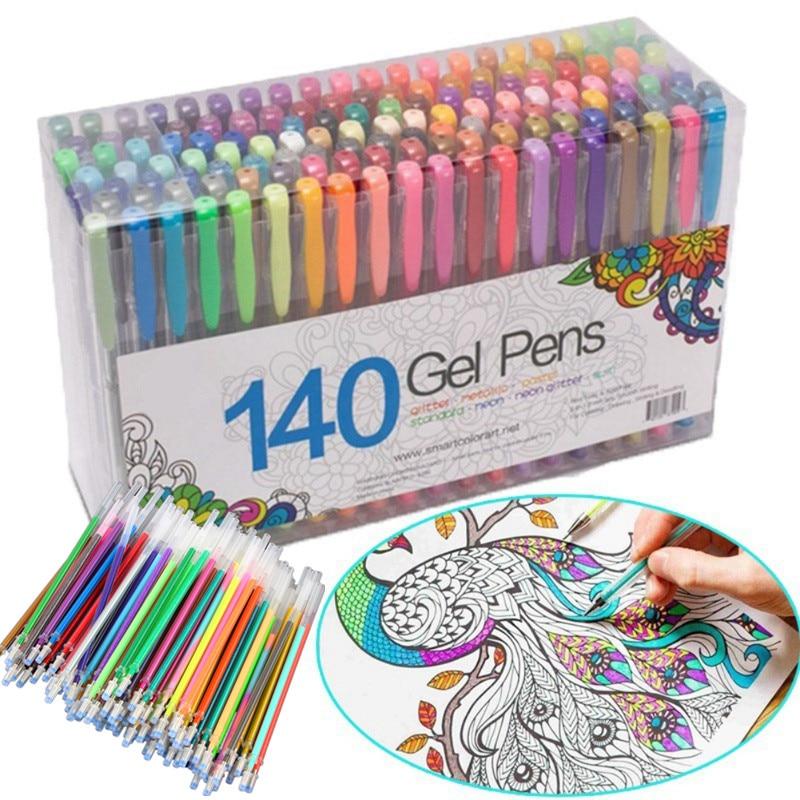 Multicolour Ballpoint Gel Pen Highlight Refill Colorful Shining Pens For School Chancellory Gel Pen Set Boligrafos 04116