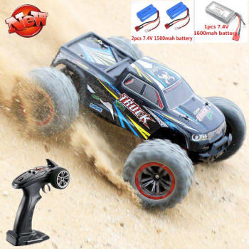 High Speed 50km/h 4WD 2.4Ghz Remote Control RC Car 9125 2.4G 1:10 4WD Double Motor Radio Controlled Off-road Racing Car Model