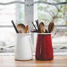Японский стиль, трубка для хранения, толстая эмаль, емкость для палочек для еды, держатель для ручки, держатель для инструментов, кухонный держатель для хранения, ретро ручка, держатель, ваза