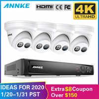 ANNKE 8CH 4K Ultra HD POE Netzwerk Video Security System 8MP H.265 + NVR Mit 4X 8MP 30m EXIR Nachtsicht Wetterfeste IP Kamera