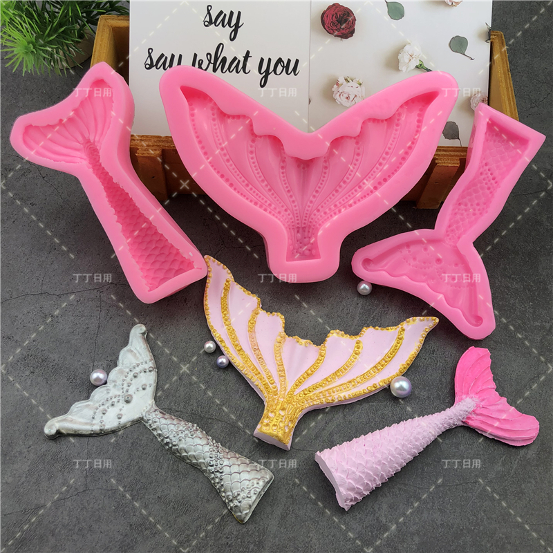 DIY Lovely Shell Starfish Conch Silicone Chocolate Mold Fish Mermaid Tail Fondant Cake Decorating Tools Clay Resin Art Moulds 4