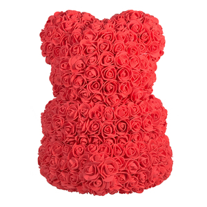 Image 2 - 2020 Cheap Red Bear Rose Teddy Bear Rose Flower Artificial Decoration Birthday Christmas Gifts for Women Valentines Gift