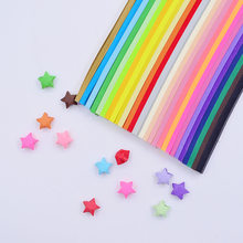 80-90pcs Mixed Colorful Handcraft Origami Lucky Star Paper Strips Paper Origami Home Wedding Party Decoration(China)