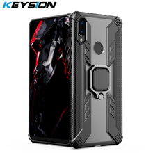 KEYSION Shockproof Armor Case For Xiaomi Redmi Note 7 Pro 7S K20 Stand Car Ring Phone Cover Mi 9T 8 Lite