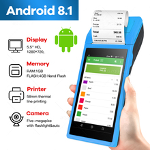 PDA POS Handheld device Pos terminal gebaut in thermische bluetooth drucker 58mm wifi Android Robusten PDA Barcode Kamera Scaner 1D 2D