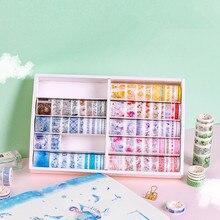 100 개/상자 색상 편안한 비밀 영역 시리즈 Washi 마스킹 테이프 세트 종이 스티커 Scrapbooking 편지지 장식 테이프