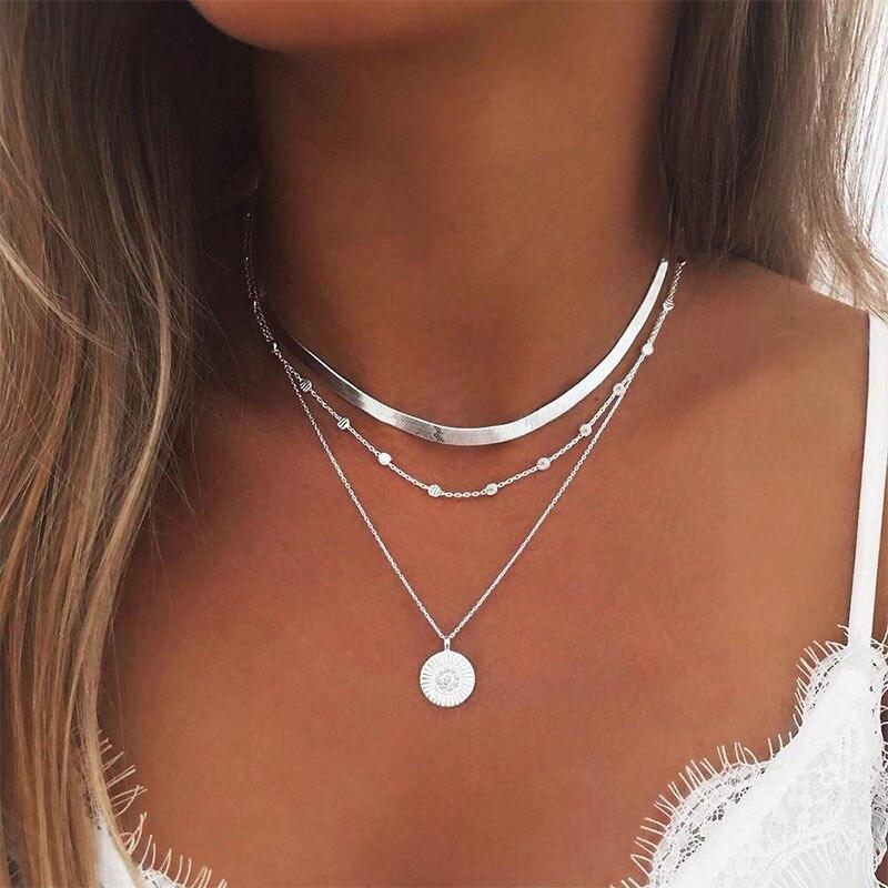 Популярное ожерелье для девушек, мода 2020, новое ожерелье с большим названием, популярное индивидуальное простое многослойное ожерелье с по...