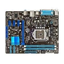 Para asus P8H61-M lx mais desktop placa-mãe h61 soquete lga 1155 para core i3 i5 i7 ddr3 16g sata2 vga uatx usado mainboard