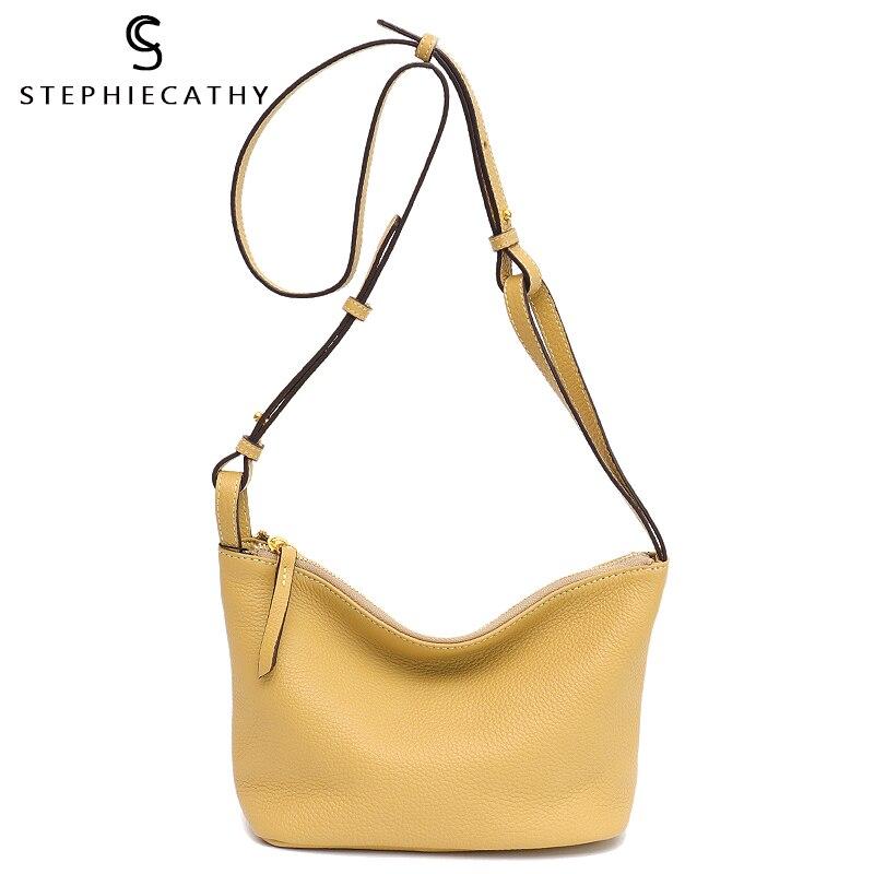 SC High Quality Leather Women Messenger Bag Brand Design Girls Soft Genuine Leather Shoulder Hobo Small Casual Wristlet Handbags