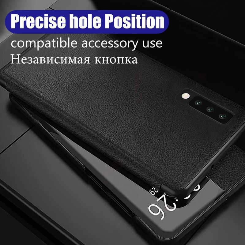 תצוגה חכמה Flip כיסוי עור טלפון מקרה עבור Huawei P30 פרו P20 P 30 20 לייט P30pro P20pro 20pro 30pro חלון Slim Funda קשה