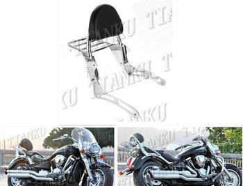 Wysokiej jakości oparcie motocyklowe półka na bagaże montowana za oparciem kierowcy dla KAWASAKI Vulcan VN2000 VN 2000 tanie i dobre opinie NOLRME 23 5cm 48cm 34cm Systemy carrier Chrome plated steel and Black synthetic leather Motorcycle Backrest Sissy Bar Luggage Rack