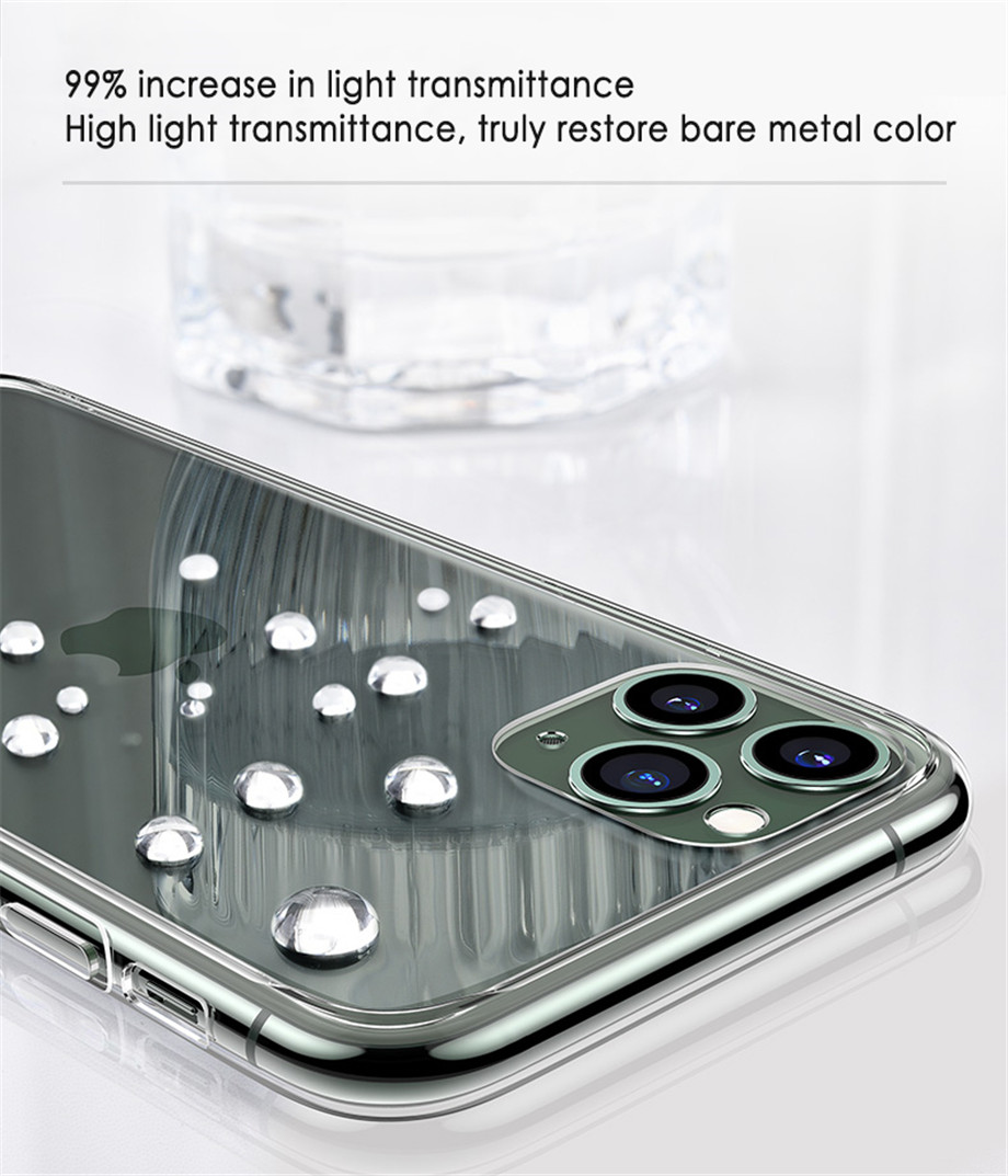 Ultra Thin Transparent Silicone Phone Case For iPhone 12 Pro